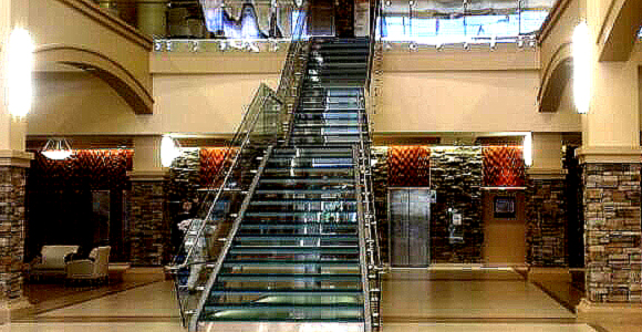 Glass Stair With Glass Rails
